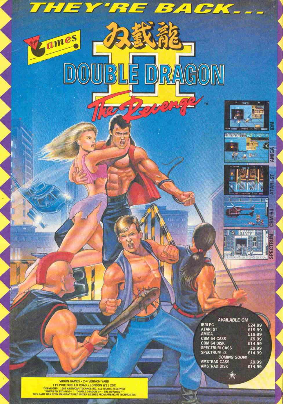 double dragon 2 cover art